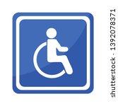disabled handicap icon .... | Shutterstock .eps vector #1392078371