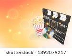 movie clapper board  box of... | Shutterstock . vector #1392079217