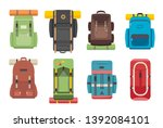 camping hiking tourist... | Shutterstock .eps vector #1392084101