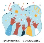 cartoon vector illustration of... | Shutterstock .eps vector #1392093857