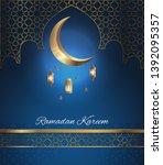 beautiful greeting card design... | Shutterstock .eps vector #1392095357