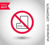 do not press enter button icon. ... | Shutterstock .eps vector #1392099074