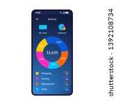 banking smartphone interface...