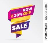 vector sale banner template... | Shutterstock .eps vector #1392117881