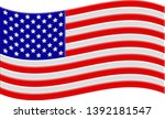 american flag with volumetric... | Shutterstock .eps vector #1392181547