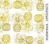 pineapple seamless pattern....   Shutterstock .eps vector #1392192671