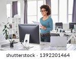 beautiful smiling mixed race... | Shutterstock . vector #1392201464