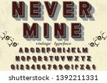 3d font handcrafted typeface... | Shutterstock .eps vector #1392211331