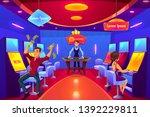 casino gambling hall interior... | Shutterstock .eps vector #1392229811