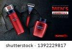 men cosmetics  safety razor...   Shutterstock .eps vector #1392229817