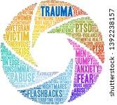Trauma Word Cloud On A White...