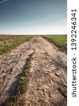 a long and stony path to the... | Shutterstock . vector #1392246341