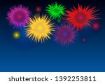 abstract colorful firework... | Shutterstock .eps vector #1392253811