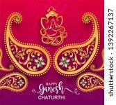 festival of ganesh chaturthi... | Shutterstock .eps vector #1392267137