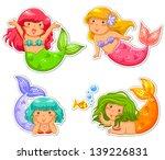 Set Of Little Mermaid  Jpeg...