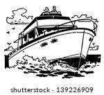 cabin cruiser   retro clip art... | Shutterstock .eps vector #139226909