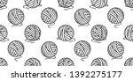 yarn ball seamless pattern... | Shutterstock .eps vector #1392275177