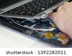 close up laptop disassembly for ...   Shutterstock . vector #1392282011