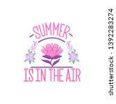 summer decorative template for... | Shutterstock .eps vector #1392283274