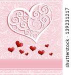invitation card design. wedding ... | Shutterstock . vector #139231217