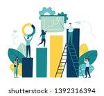 illustration of business ... | Shutterstock .eps vector #1392316394