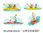 extreme  dangerous water sports ... | Shutterstock .eps vector #1392338387