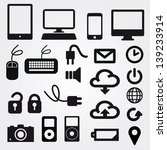 app icon on mobile phone vector ... | Shutterstock .eps vector #139233914