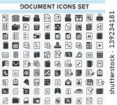 100 document icons set | Shutterstock .eps vector #139234181
