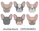 vector drawings of french... | Shutterstock .eps vector #1392344831