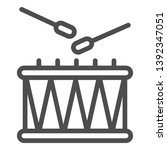 drum and sticks line icon.... | Shutterstock .eps vector #1392347051