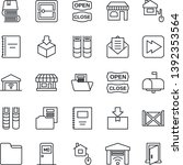 thin line icon set   shop... | Shutterstock .eps vector #1392353564