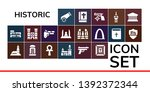 historic icon set. 19 filled... | Shutterstock .eps vector #1392372344