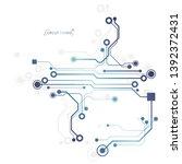 circuit board  electronic...   Shutterstock .eps vector #1392372431