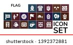flag icon set. 19 filled flag...