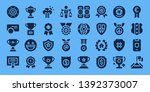 honor icon set. 32 filled honor ... | Shutterstock .eps vector #1392373007