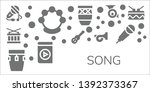 song icon set. 11 filled song... | Shutterstock .eps vector #1392373367