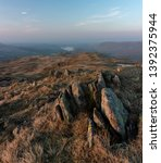 craggy rocks of place fell ... | Shutterstock . vector #1392375944