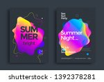 summer bright party poster wiht ... | Shutterstock .eps vector #1392378281