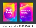 summer night party poster wiht... | Shutterstock .eps vector #1392380414