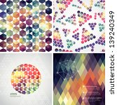 retro pattern of geometric... | Shutterstock .eps vector #139240349
