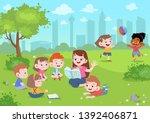 teacher read story to student...   Shutterstock .eps vector #1392406871