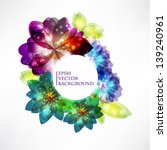 abstract floral background | Shutterstock .eps vector #139240961