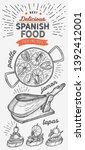 spanish cuisine illustrations   ...   Shutterstock .eps vector #1392412001