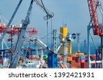 industrial port in odessa city  ... | Shutterstock . vector #1392421931