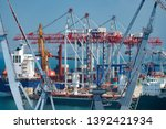 industrial port in odessa city  ... | Shutterstock . vector #1392421934