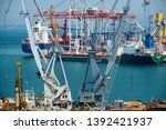 industrial port in odessa city  ... | Shutterstock . vector #1392421937