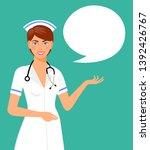 beautiful smiling woman nurse... | Shutterstock . vector #1392426767