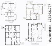architectural blueprint in top... | Shutterstock .eps vector #1392431777