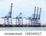 big industrial port using as... | Shutterstock . vector #139243217
