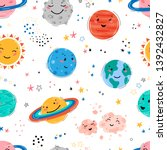 space seamless pattern with... | Shutterstock .eps vector #1392432827